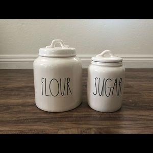 Rae Dunn Canister Set Flour Sugar